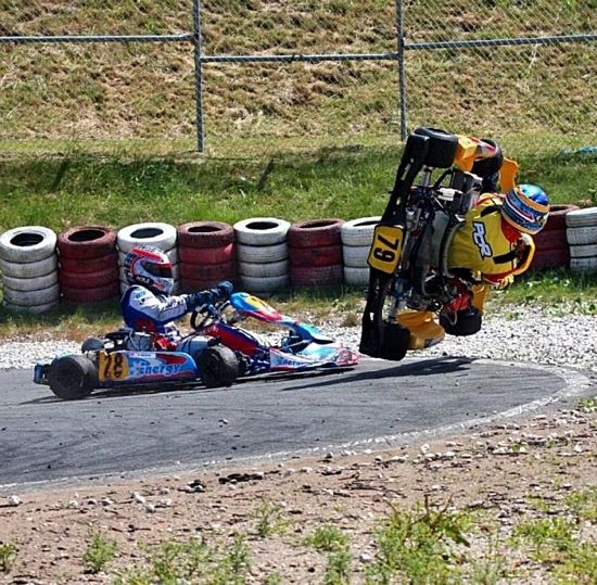Image result for go kart crash child