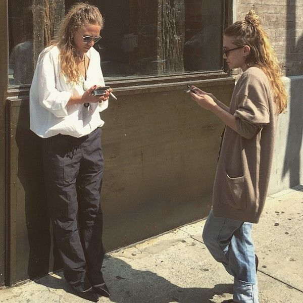Instagram Spotting: Mary-Kate And Ashley Go Slouchy In NYC