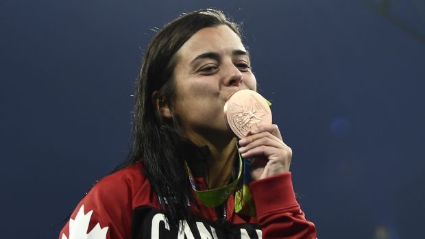 Canada's Meaghan Benfeito won a bronze medal in women's 10-metre platform diving at 2016 Rio Olympics on Thursday. It is her second bronze of the Games after finishing third in the women's synchronized 10-metre platform alongside partner Roseline Filion, who finished sixth in the individual 10-metre platform.