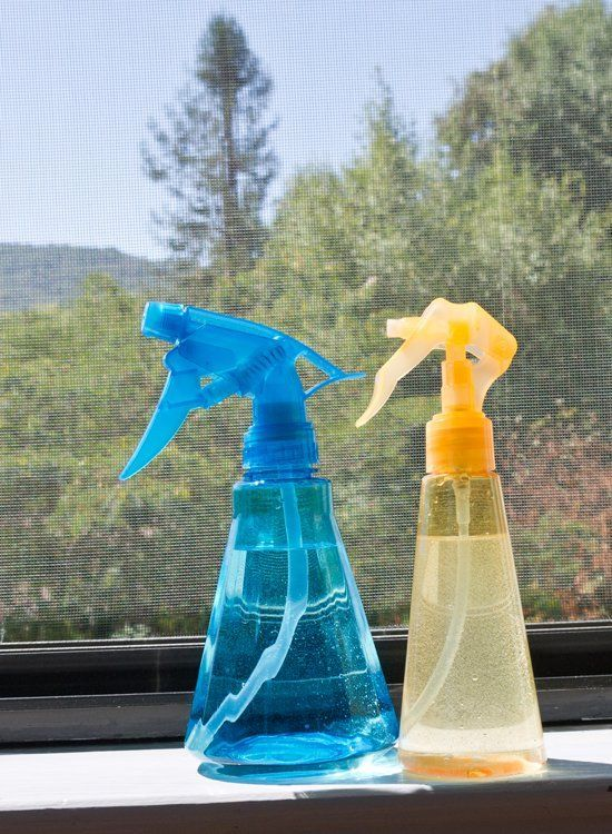 DIY Window Screen Cleaner Spray For the Best Windows Ever.What You'll Need: 2 spray bottles 3 tablespoons baking soda 1 tablespoon washing soda 4 cups water 10 drops essential oil