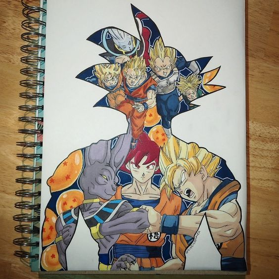 Video Desenhe Seus Personagens Favoritos Goku Pinterest