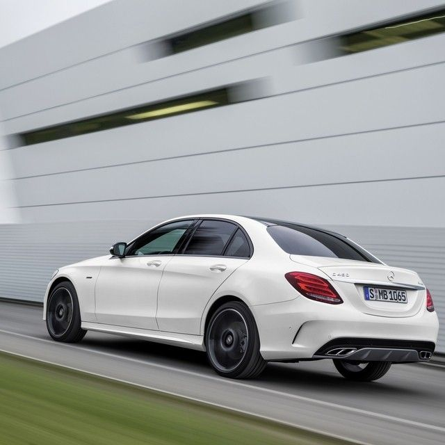For those looking for a sharper-handling Mercedes-Benz C-Class, look here: the all-new 362-hp C450 AMG 4MATIC. #Mercedes #Benz #C450 #AMG #4MATIC #NAIAS #NAIAS2015 #carsofinstagram #germancars #luxury