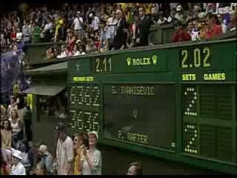 Golden Moment Goran Ivanisevic Vs  Patrick Rafter 2001