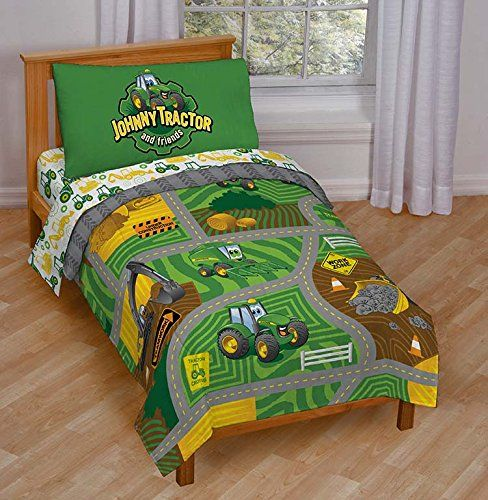 "John Deere ""Johnny Tractor Play"" Toddler Bed Set John Deere http://www.amazon.com/dp/B00V4XSJ3M/ref=cm_sw_r_pi_dp_bakfwb0B2BWNN"