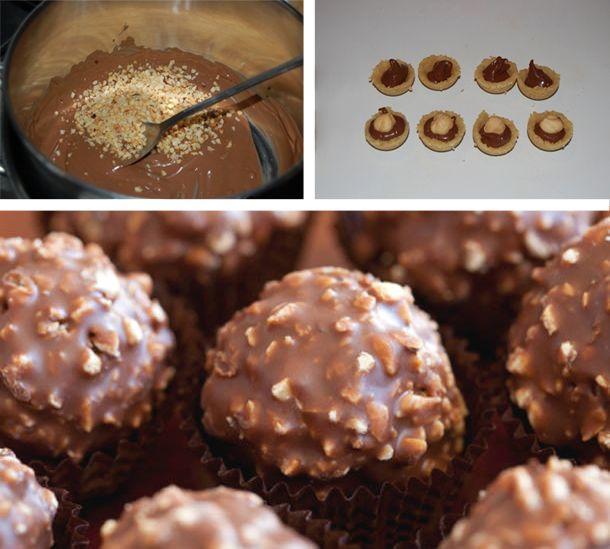 Ingredienti Cioccolato al latte: 200 gr. Nocciole intere Biscotti secchi (Tipo pavesini): 70 gr. Burro: 70 gr. Granella di nocciole: 100 gr. Nutella: 120 gr. Preparazione Per preparare la ricetta dei Ferrero Rocher, aiutandovi con un mixer, tritate i biscotti secchi fino a ridurli in polvere. In un pentolino, fondete anche il burro a fiamma…
