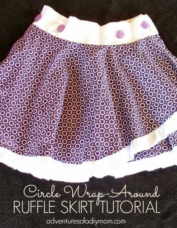 Circle Wrap-Around Ruffle Skirt Tutorial - Ucreate