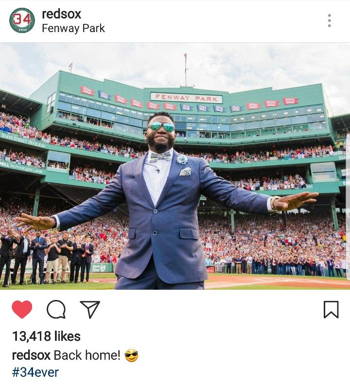 6/23/2017° #BigPapi  #Redsox  #RedSoxNation  #34Ever