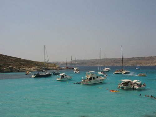 Malta Comino Blue Laggon by ramonbaile, via Flickr