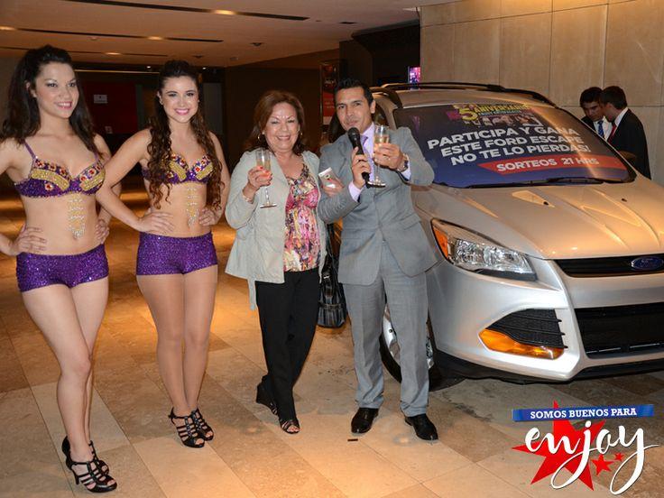 Rosa Gutiérrez de García fue la afortunada ganadora de un espectacular Ford Escape en Enjoy Antofagasta.