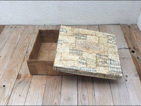 (53) Caja de cartón decorada con papel envejecido - YouTube