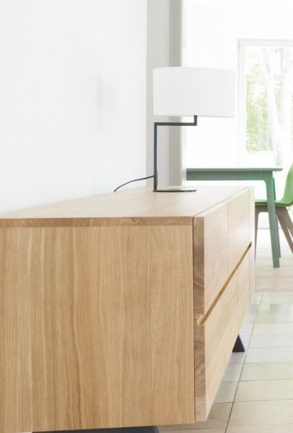 Sideboard based on the Modulor proportions system developed by Le Corbusier Trestle leg version of the Low Sideboard.