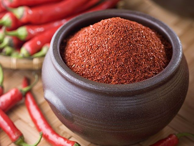"Small studies have shown that red pepper may increase metabolism slightly, so add a little spice to whatever you're eating from eggs and stir fry dishes to barbecue rubs and salad dressings. ""The spiciness may also help curb your appetite so you eat a little less,"" says Ginn."