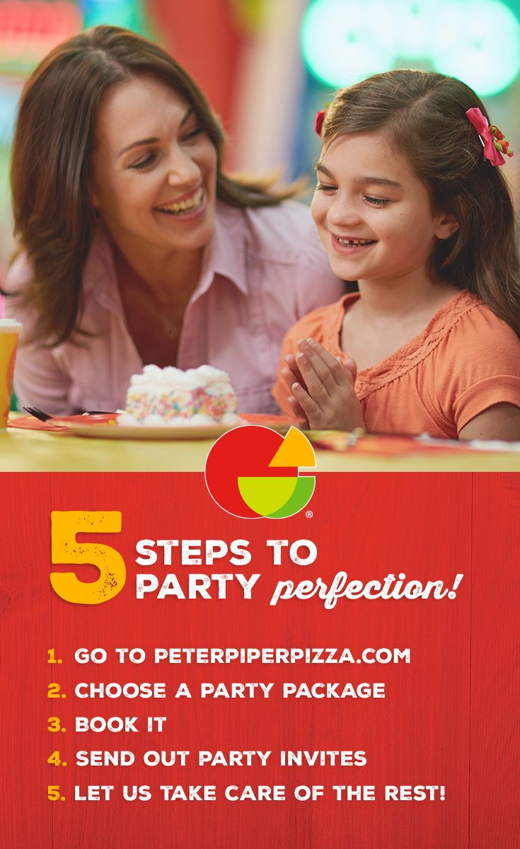 At Peter Piper Pizza, we handle the planning, decorations, and food so you can focus on the fun! Did we mention your kiddo gets to make their own pizza?! Click to find out more about what makes a Peter Piper Pizza party different and book now!