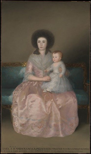 Goya (Francisco de Goya y Lucientes) (Spanish, 1746–1828). Condesa de Altamira and Her Daughter, María Agustina, 1787–88. The Metropolitan Museum of Art, New York. Robert Lehman Collection, 1975 (1975.1.148)