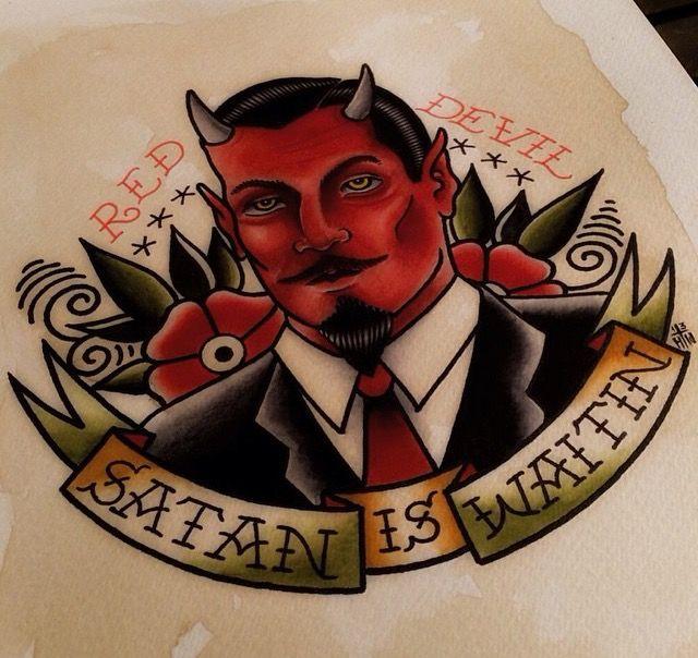 Old School Devil Tattoo