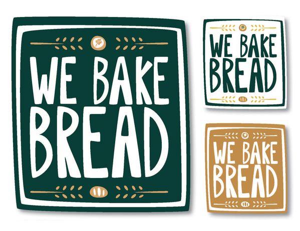 we bake bread logo