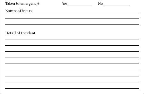 Download Incident Report Form Template  Children Stuff