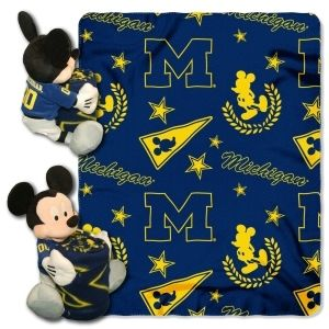 Michigan Wolverines Blanket Disney Hugger