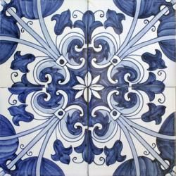 2209 Portuguese handmade majolica tile