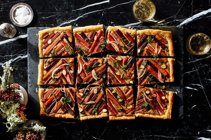 Savory Carrot Tart with Ricotta and Almond filling