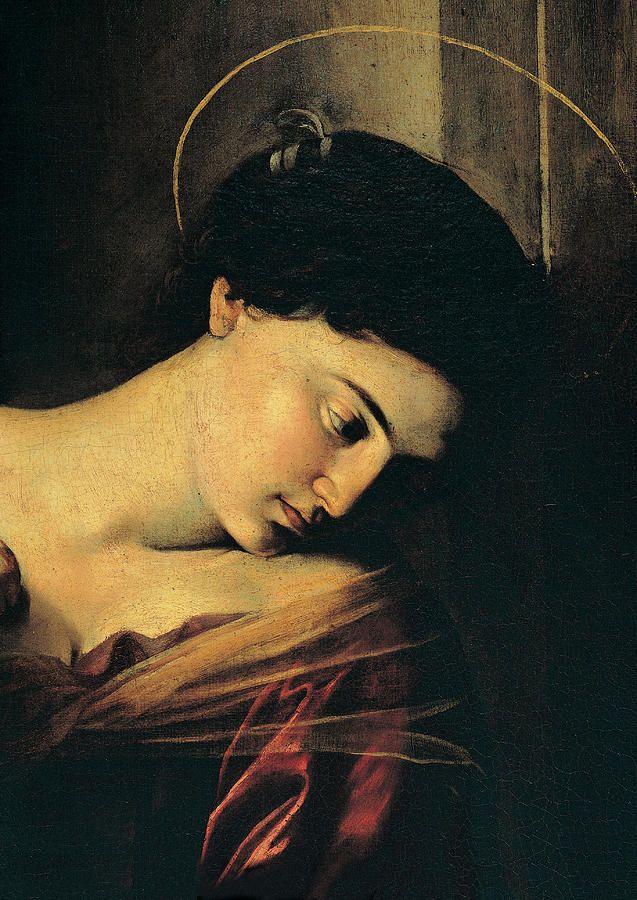 lilacsinthedooryard:  Caravaggio Madonna di Loreto (detail) 1604