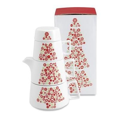 Toretta - X-mas themed ceramic tea set | KLIK4 Reklamni proizvodi