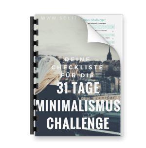 31 Tage Minimalismus-Challenge - hol Dir Deine Checkliste jetzt!
