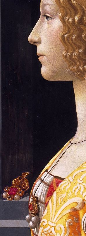 Portrait of Giovanna Tornabuoni - Domenico Ghirlandaio, 1490, detail