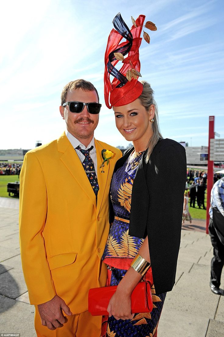 Yellow dress melbourne cup live