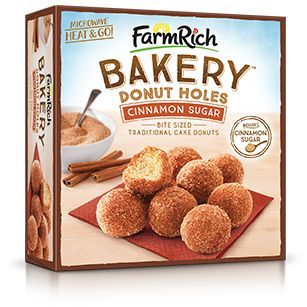 They say breakfast is the most important meal of the day, so sweeten yours up (and sleep in a little longer) with Farm Rich Cinnamon Sugar Donut Holes!
