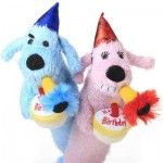 birthday loofa, dog toy