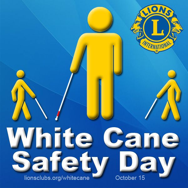 White Cane Safety Day - more information: http://lion.ly/Ouokm