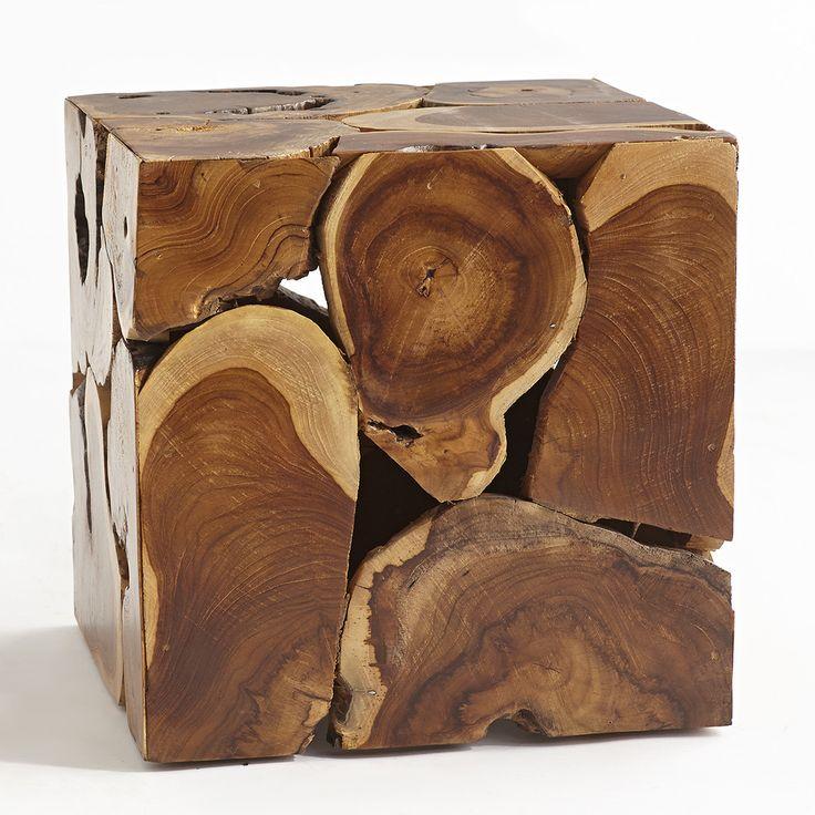 "Teak Cube Coffee Table Dimensions: 16""sq. x 16""h $250"