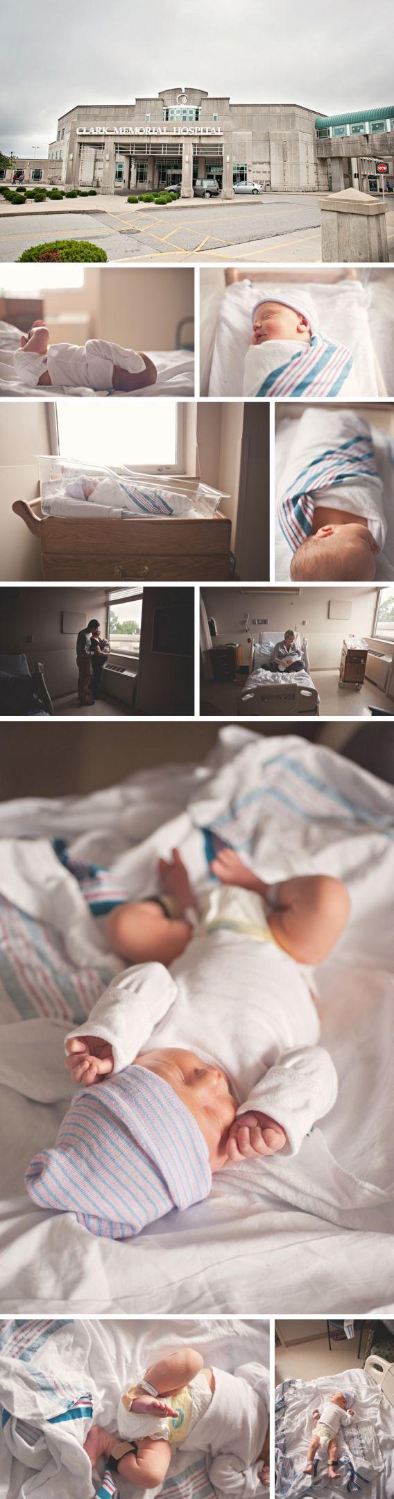 Hospital Newborn Photo Session Clark Memorial Hospital