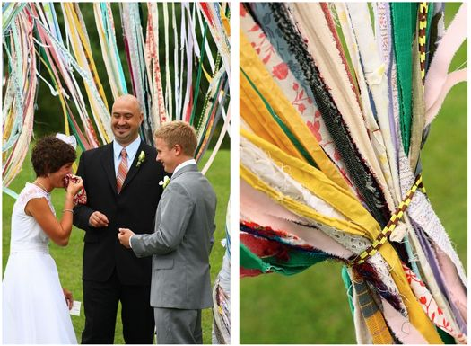 Very cool ribbon decorations for wedding. :)