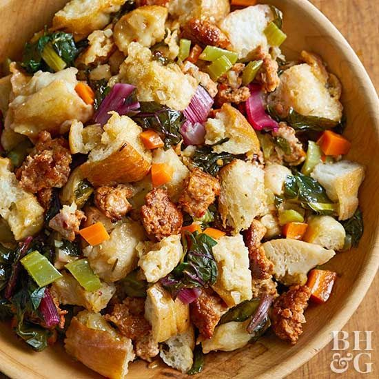 Get a load of this slow cooker Thanksgiving stuffing!