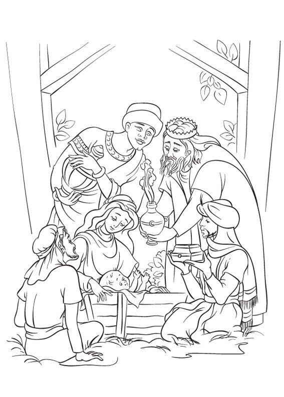 21 Disegni Del Presepe Da Colorare Natale Nativity Nativity