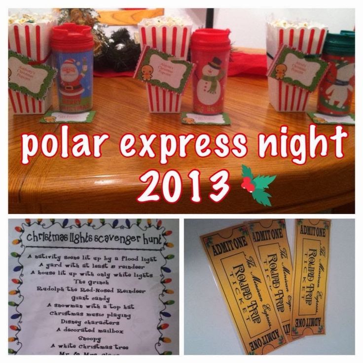 It's A Mom's World: Polar Express Night. Perfect for when we go to the polar express in Palestine tx.