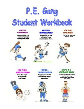 WOW!!! this is a GREAT resource for Character Education in physical education class: The Adventures of the P.E. Gang Students….Great Handouts!