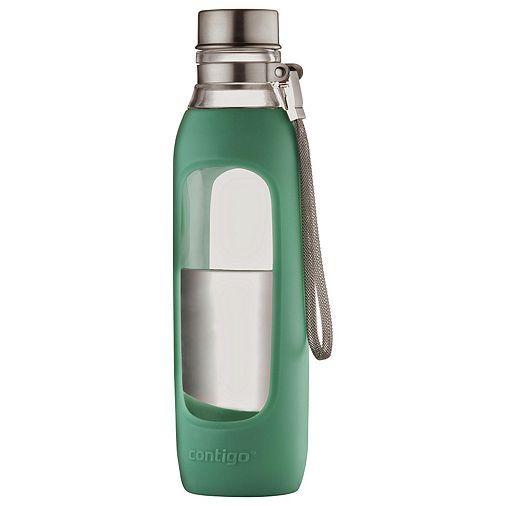 Tesco direct: Contigo 590ml Purity Glass Water Bottle, Green