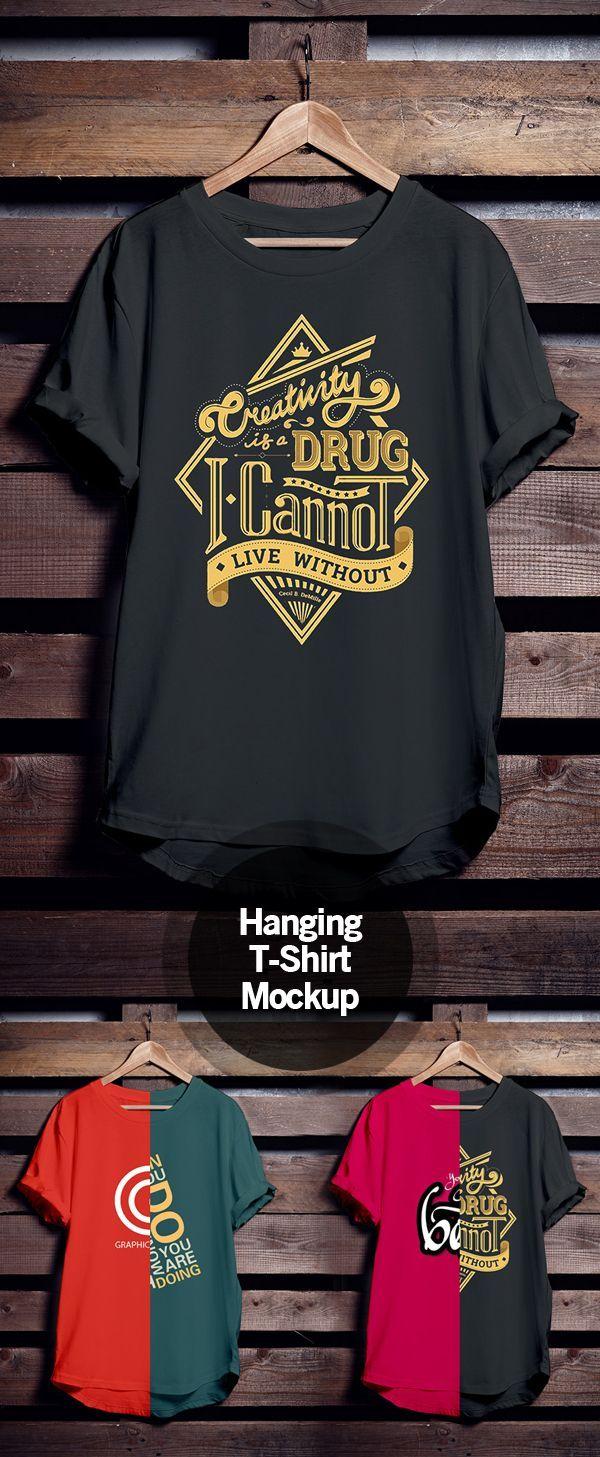 Download Free Hanging T Shirt Mockup Https Chartreusemodern Com Shirt Mockup Kaos Baju Kaos Desain Pakaian