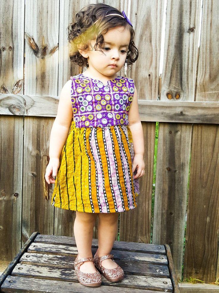 3T 3 Years Kantha Midi Dress Boho Baby Dress Bohemian