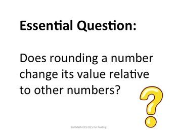 3rd Grade Common Core Math Essential Questions for Posting