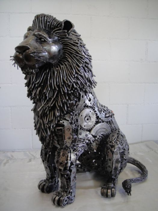 Best Metal Sculptures Images On Pinterest Metal Sculptures - Salvaged scrap metal transformed to create graceful kinetic steampunk sculptures