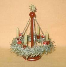 alter Adventskranzständer für Puppenstube, hochwertig, selten