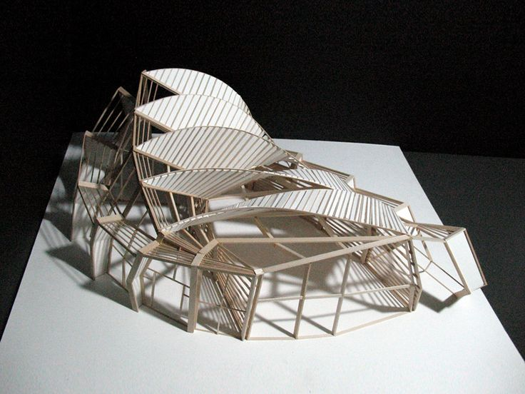Ferry terminal final model by m yun super models for Form space and design architects