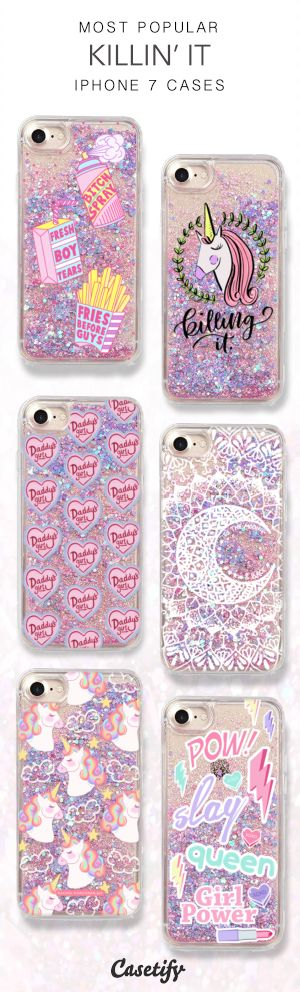 Most Popular Killin' It iPhone 7 Cases here > https://www.casetify.com/collections/iphone-7-glitter-cases#/