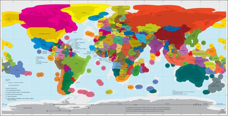 La carte du monde des zones économiques exclusives. | Une carte du monde.