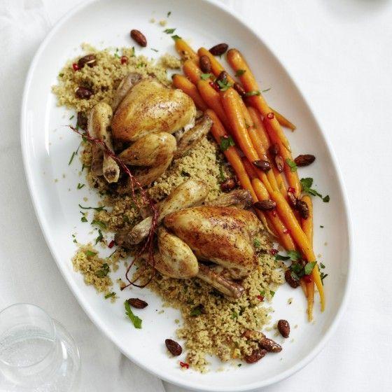 ESSEN & TRINKEN - Stubenküken mit Dattel-Couscous Rezept