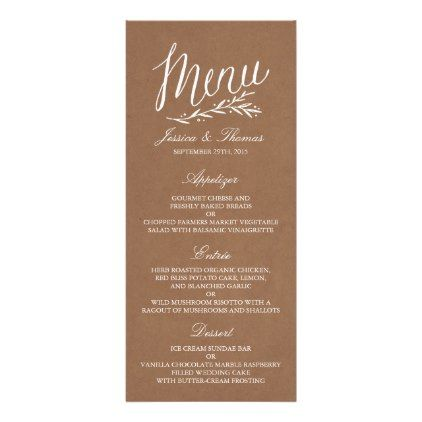 61 best Wedding Menu Cards images on Pinterest Wedding menu - dinner party menu template